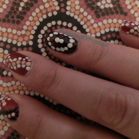 The pattern on my middle finger continues on the paper!